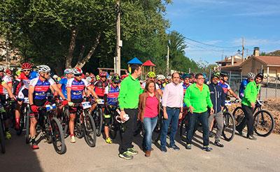 Más de 350 bikers tomaron parte en la X Ruta de las Aliagas, tercera prueba del VI Circuito MTB Diputación de Guadalajara, celebrada Peñalver