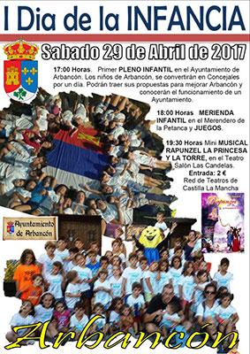 Los más pequeños de Arbancón, se convertirán el próximo sábado 29 de Abril en los protagonistas con la celebración del I Día de la Infancia.
