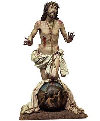 El Cristo del Perdón, obra de Juan Salvador Carmona, que está en Atienza