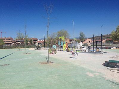 Las obras del parque de La salinera avanzan a buen ritmo