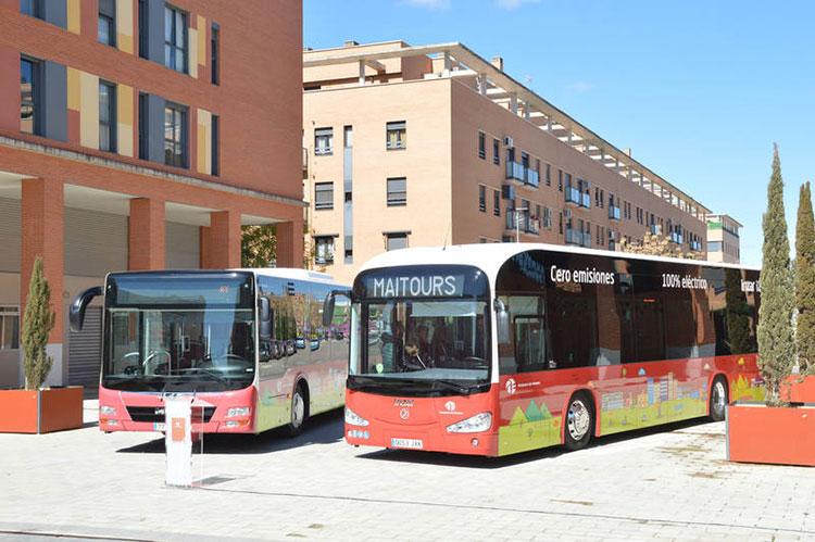 Los nuevos autobuses de Azuqueca