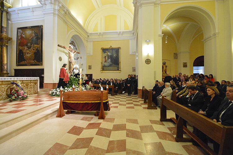 El féretro con los restos mortales Elena de la Cruz en la Concatedral de Santa María