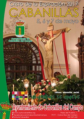 Cartel de las fiestas del Cristo en Cabanillas 2017