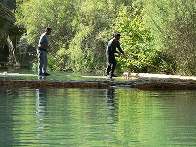 Gancheros en el Alto Tajo Parque Natural del Alto Tajo. (Foto: Romulado Pinilla)
