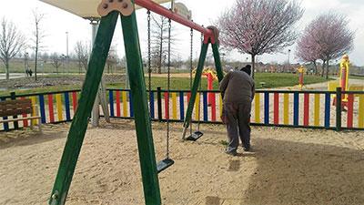 Uno de los parques que es objeto de puesta a punto