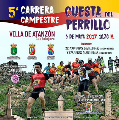 Cartel anunciador de la carrera en Atanzón