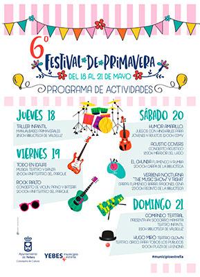Cartel del festival de primavera de Valdeluz
