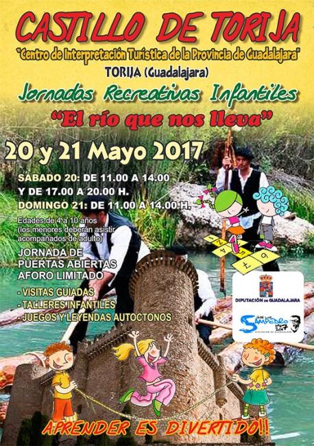 Cartel de las actividades que se van a llevar a cabo en el Castillo de Torija