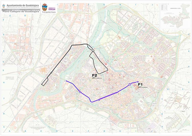 Plano con el refuerzo de las líneas de autobuses en el día de las Fuerzas Armadas
