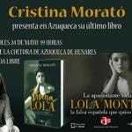 Este miércoles, Cristina Morató presenta en Azuqueca 'Divina Lola'