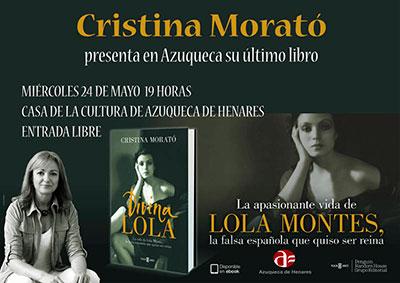 Cartel del encuentro con Cristina Morató