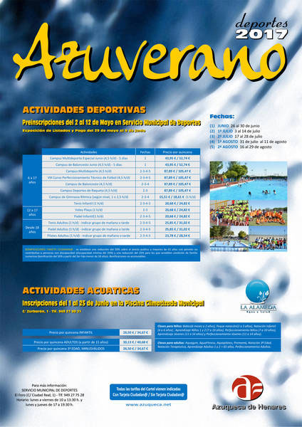 6c2650ab Abierta la preinscripción en las actividades deportivas del programa ...