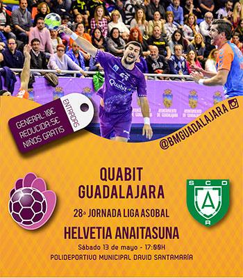 El Quabit Guadalajara espera la visita del Anaitasuna