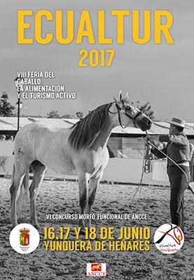 Cartel de Ecualtur 2017 que se va a celebrar en Yunquera de Henares