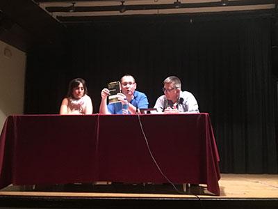 Raúl Conde, Inés Espinosa y Angel de Juan, en la última mesa redonda de esta jornada. // Foto: Raquel Gamo