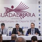 Javier Guillén promociona Guadalajara como Ciudad Europa del Deporte