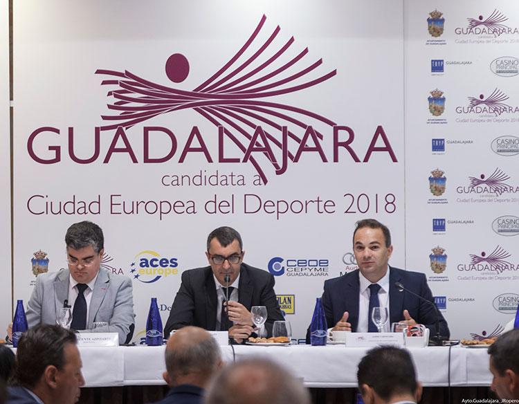 Javier Guillén, director de la Vuelta, promociona Guadalajara como Ciudad Europea del Deporte