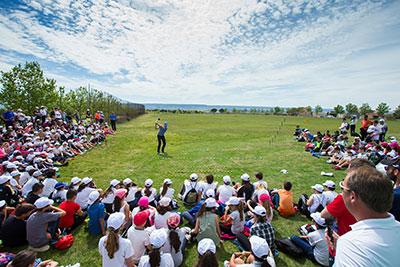 Expectación en el torneo de golf que se esta celebrando en Cabanillas