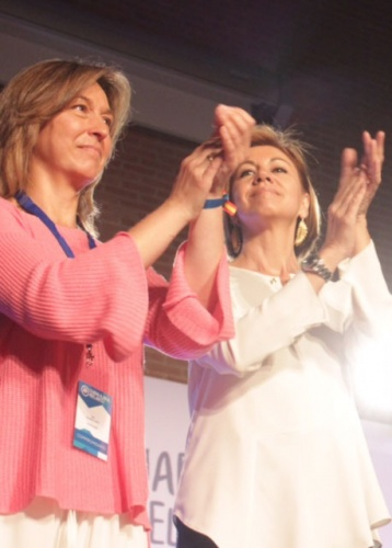 Cospedal ha estado presente en el Congreso del PP que ha elegido a Ana Guarinos como presidenta