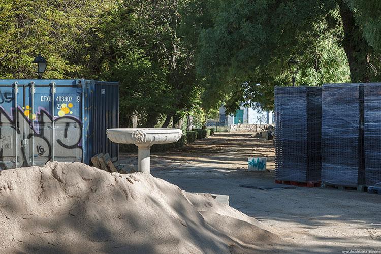Las obras en el parque de la Fuente de la Niña avanzan a buen ritmo y podrán estar concluidas antes de lo previsto