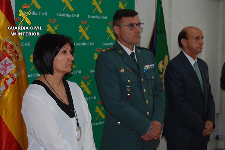 Un momento de los actos de celebración del CLXXIII aniversario de la Guardia Civil