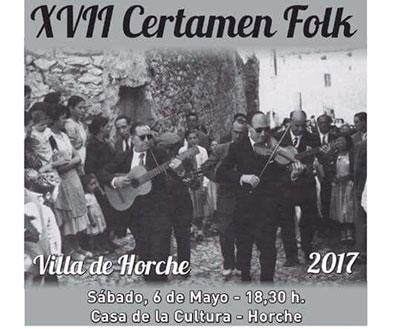 Cartel de la convocatoria de música folk en Horche