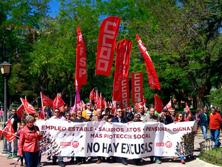 Manifestación del 1º de Mayo en Guadalajara (Foto: CC.OO)
