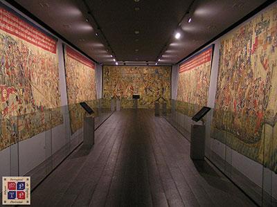 Una de las salas donde se muestran los tapices de Pastrana