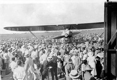 El Cuatro Vientos, en el momento de aterrizar en La Habana