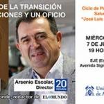 Los periodistas Arsenio e Ignacio Escolar participan este miércoles en la charla 'España desde la Transición'