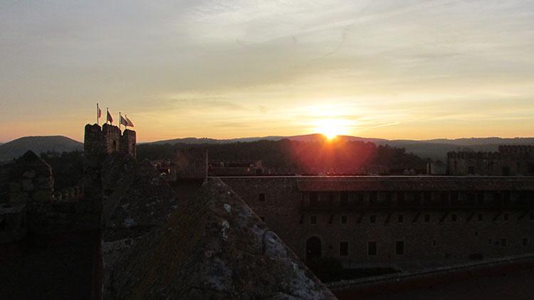Atardecer en el castillo seguntino