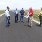 Latre vista las obras de la carretera de Campillo de Dueñas