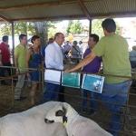 Latre destaca la labor de los ganaderos y pastores en la Feria del Ganado en Hiendelaencina