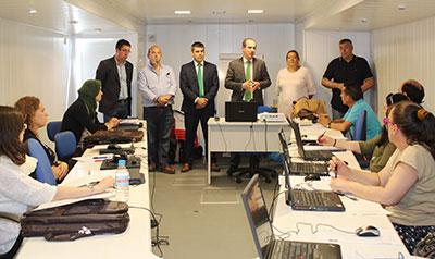 Alberto Rojo ha visitado el centro de formación de Molina