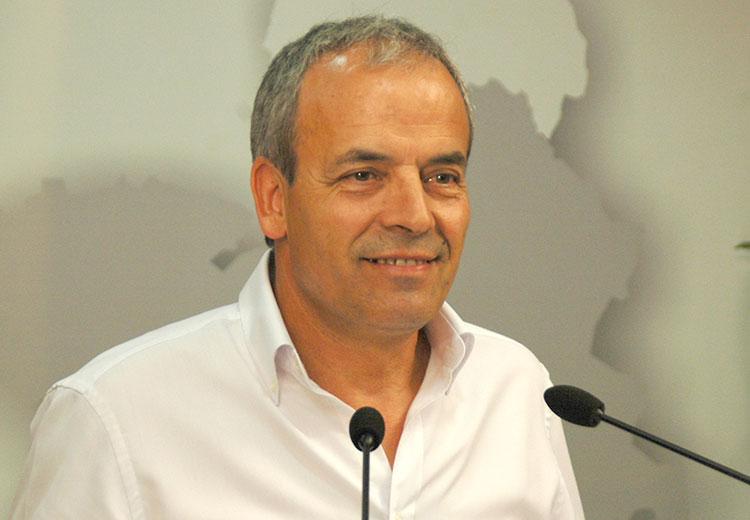 El portavoz del grupo socialista en la Diputación Provincial, Julio García