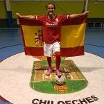 Noelia de las Heras del Chiloeches con la selección española sub-17