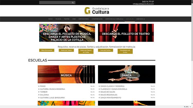 Web de Guadalajara cultura del Patronato de Cultura
