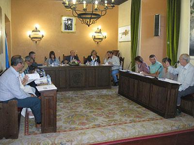 Imagen del pleno del ayuntamiento seguntino