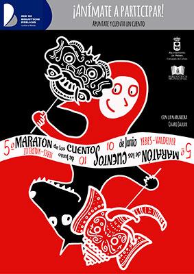 Cartel de la convocatoria del maratón de los cuentos en Yebes y Valdeluz