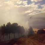 Controlado el incendio de Chiloeches antes de que saltara la carretera