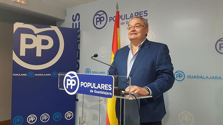 El senador del PP por Guadalajara, Juan Antonio De las Heras