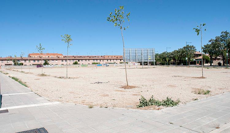 Parcela donde se quiere construir la nieva residencia de mayores en Marchamalo