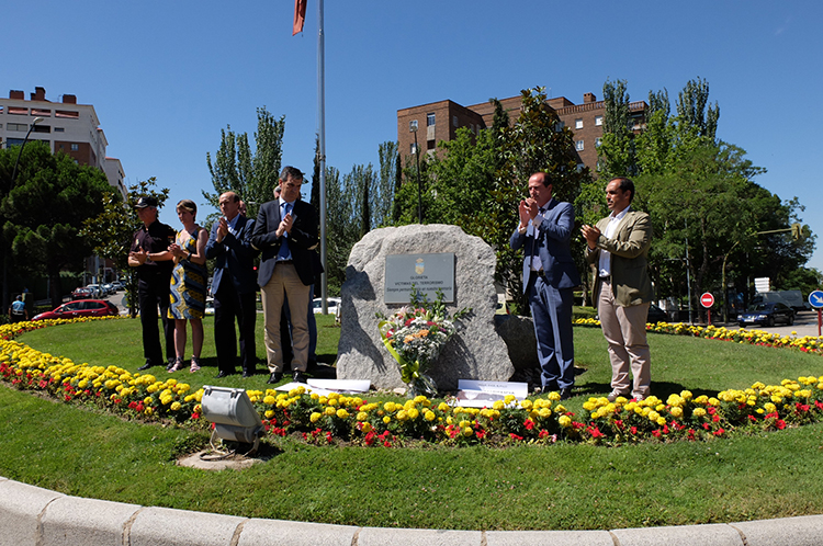 Un momento del homenaje a las víctimas del terrorismo en el recuerdo a Miguel Angel Blanco