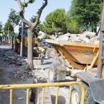 Empiezan las obras para renovar la acera en la avenida de Alcalá