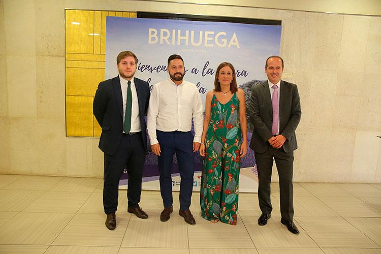 Nacho Hernando, Ana Isabel Fernández, Luis Manuel Viejo y Alberto Rojo en la presentación del Festival de la Lavanda