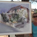 """La madrileña Victoria Moreno gana el """"Villa de Cabanillas"""" de Pintura Rápida al aire libre."""