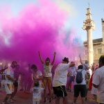 Fuentenovilla estalló de color en su 'I Marcha Colour Run'
