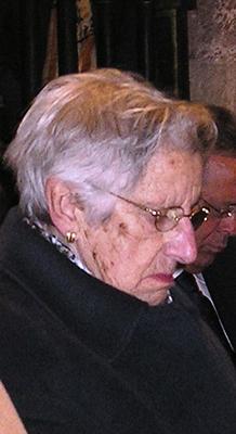 Doña Joaquina Martínez, madre de mons. Atilano Rodríguez, obispo de Sigüenza-Guadalajara