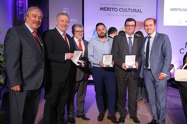 Los galardonados alcarreños en esta edición de la medalla al mérito cultural