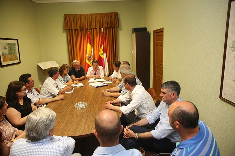 Los municipios ribereños se reunieron con Page en su visita a Entrepeñas